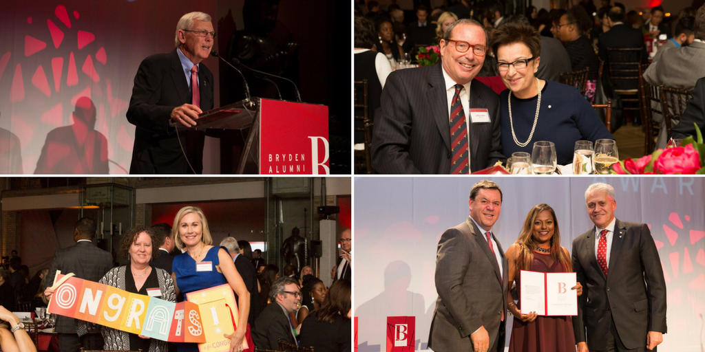 Bryden Alumni Award winners at ceremony