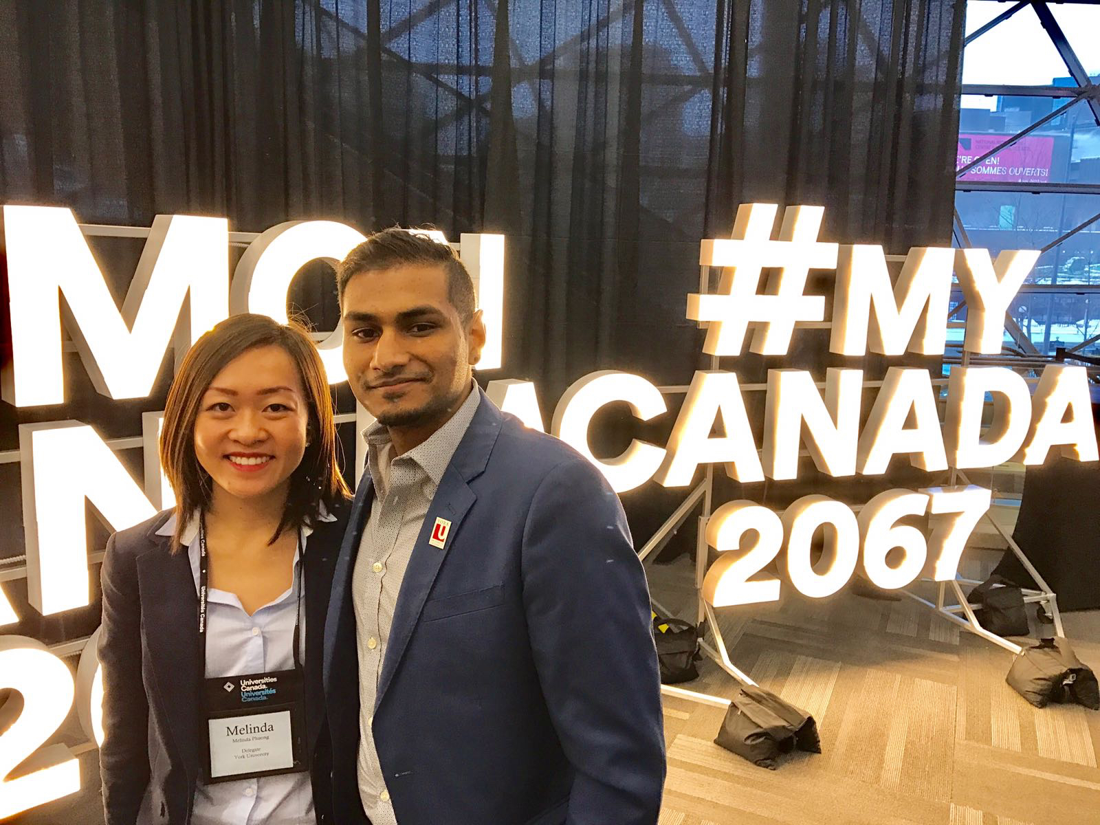 Melinda Phuong and Nishal Shah at Converge 2017.